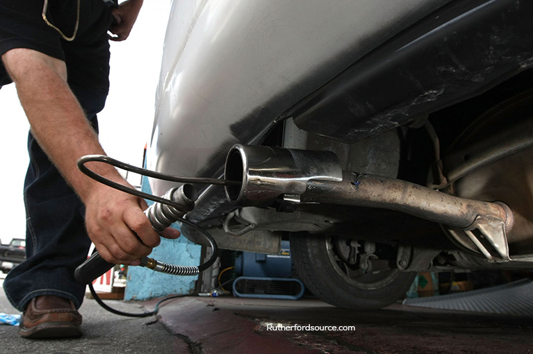 A tailpipe on a vehicle